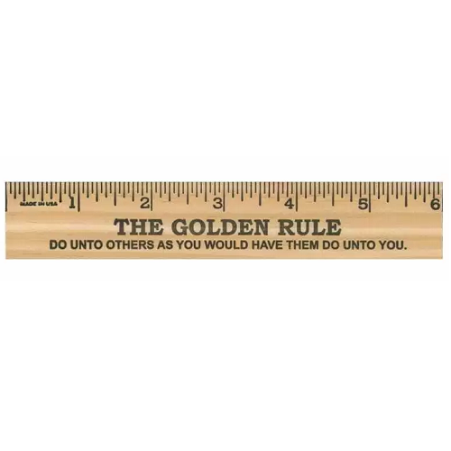24 Ct The Golden Rule Christian Student Wooden Rulers 6 Inch 52542
