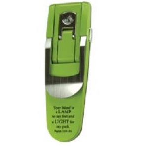 Book Light w/Scripture (Green) - Your Word Is a Lamp