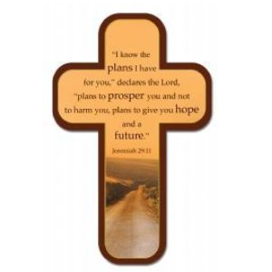(Pkg. 12) Cross Bookmarks - Jeremiah 29:11 (Road)