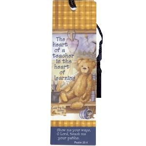 Heart of a Teacher (Teddy Bear) - Bookmark w/Scripture
