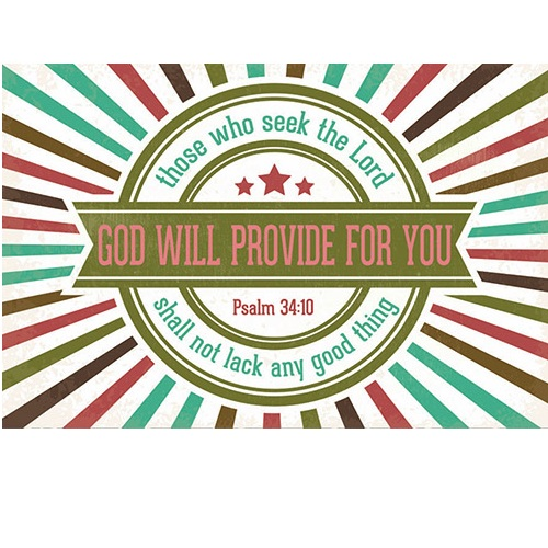 (Pkg. 25) God Will Provide for You - Pass It On Message Cards B1689