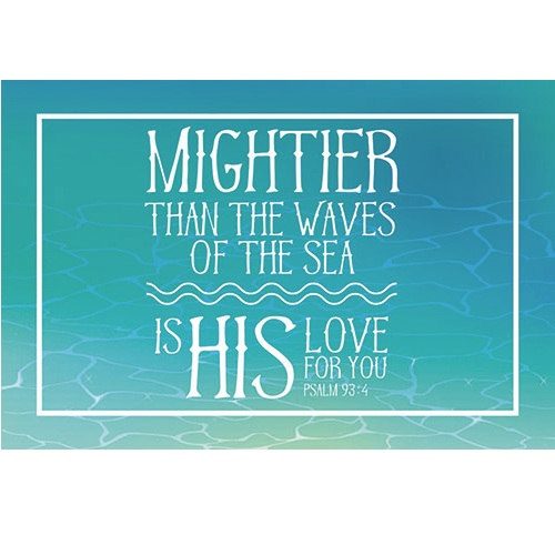(Pkg. 25) Mightier Than The Waves of the Sea - Pass It On Message Cards B1690