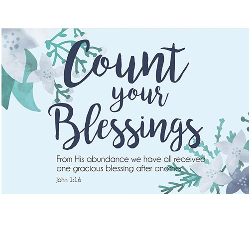 (Pkg. 25) Count Your Blessings - Pass It On Message Cards B1699