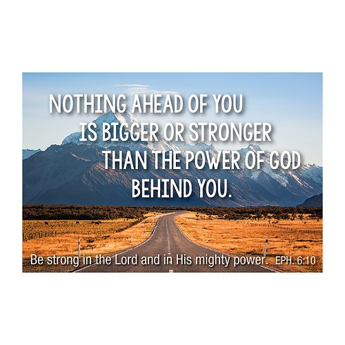 (Pkg. 25) Nothing Ahead of You (Mountains) Christian Message Cards F1253