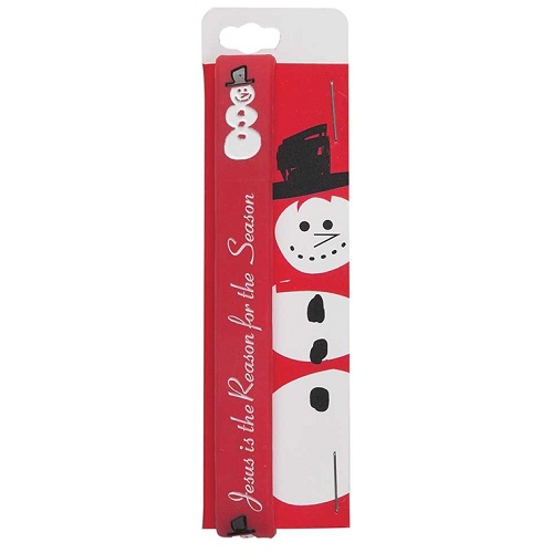 (1) Jesus Is the Reason for the Season Snowman Silicone Bracelet CHN116