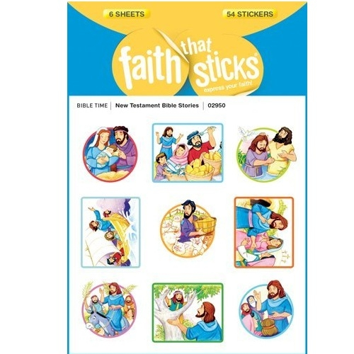 Christian Stickers - New Testament Bible Stories - Tyndale 02950 (6 Sheets)