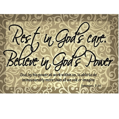 (Pkg. 25) Rest in God's Care - Pass It On Message Cards YC845