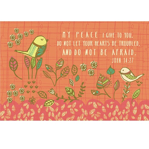 My Peace I Give You (Bird) Pass It On Message Card YC862