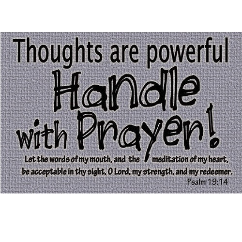 Thoughts Are Powerful Handle with Prayer - Message Card YC864