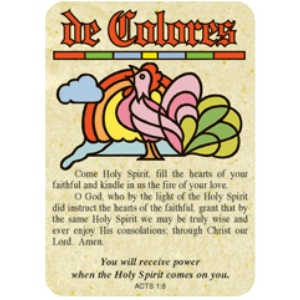 De Colores (Rooster) Christian Pocket Card Acts 1:8 Scripture 13776