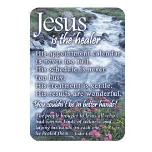 Jesus Is the Healer - Pocket Card 13874